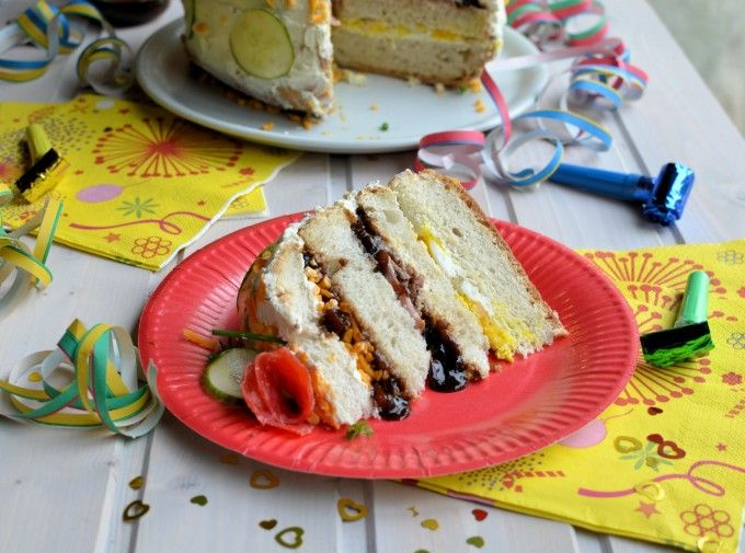 """Smorgastarta"" (Swedish Savoury Sandwich Gateau) for National Sandwich Day"