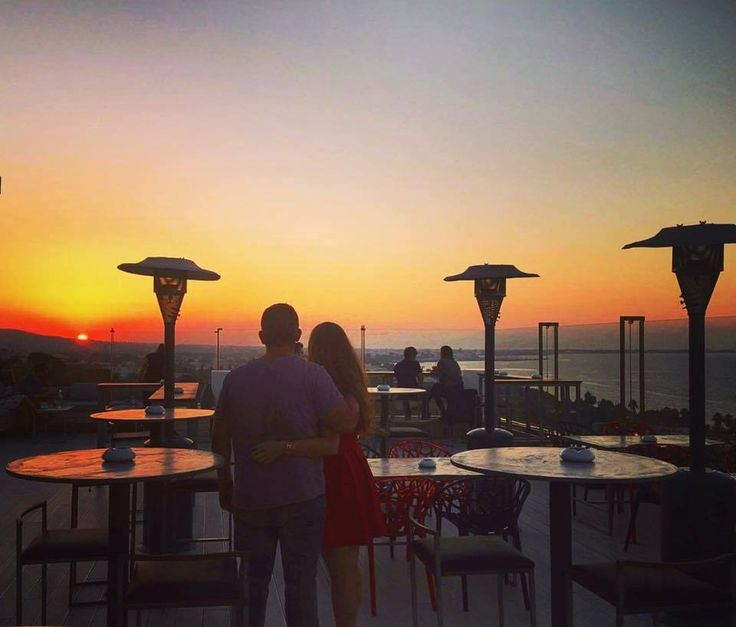 """There is no season when such pleasant and sunny spots may be lighted on, and produce so pleasant an effect on the feelings, as now in October."" #RedSkyBar #KipriotisHotels #KipriotisPanorama #October"