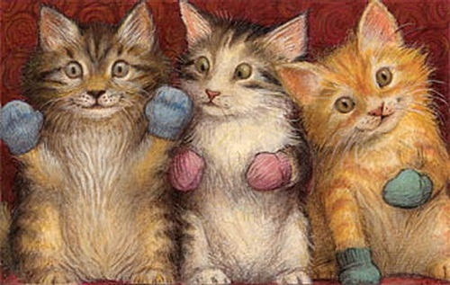 Petra Brown  Kittens in mittens!!