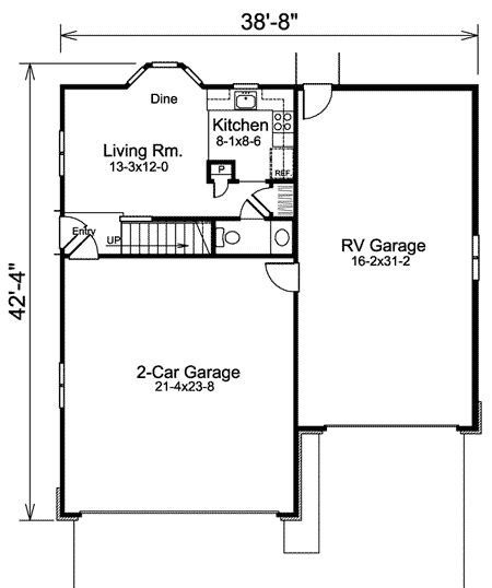 1000 ideas about garage with apartment on pinterest for Carriage rv floor plans