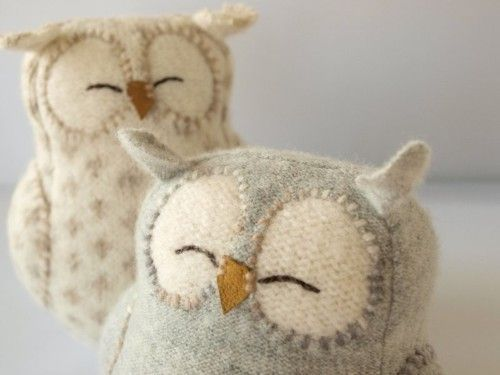 felted owls ~~ Adorable
