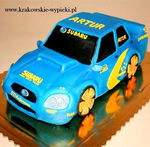 Tort Subaru z Cukierni Krakowskie Wypieki