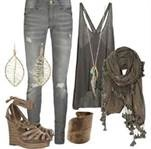 This is a cute outfit for teens or women:)