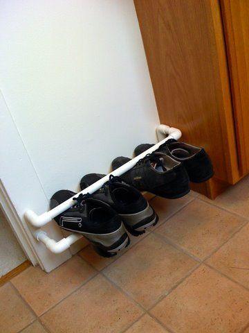 25 unique pvc shoe racks ideas on pinterest hanging shoe storage traditional shoe rack and. Black Bedroom Furniture Sets. Home Design Ideas