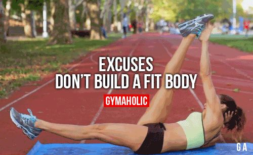 gymaaholic:  Excuses Dont Build A Fit Body Go get it instead of...