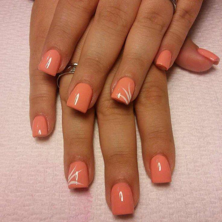 The 25+ best Peach nail art ideas on Pinterest | Corral nails, Coral nail  designs and Beach nail designs - The 25+ Best Peach Nail Art Ideas On Pinterest Corral Nails