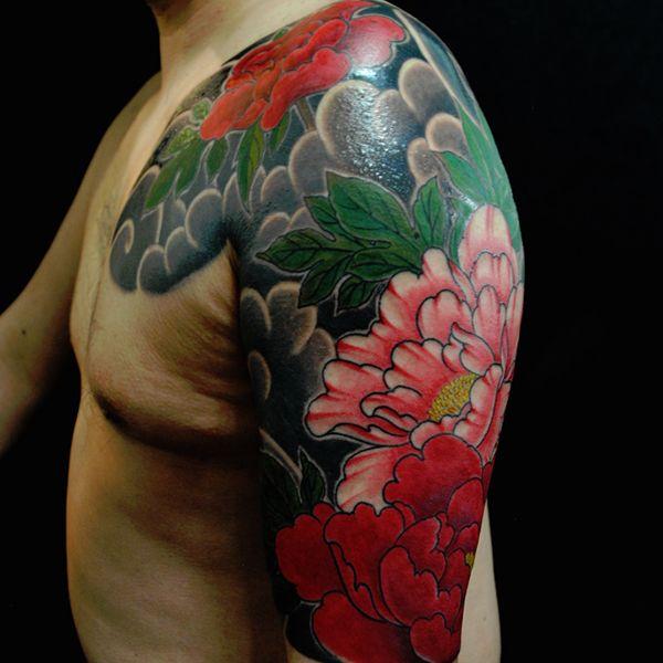 26 Peony Tattoo Designs Ideas: 26 Colorful Half Sleeve Tattoo Ideas For Men