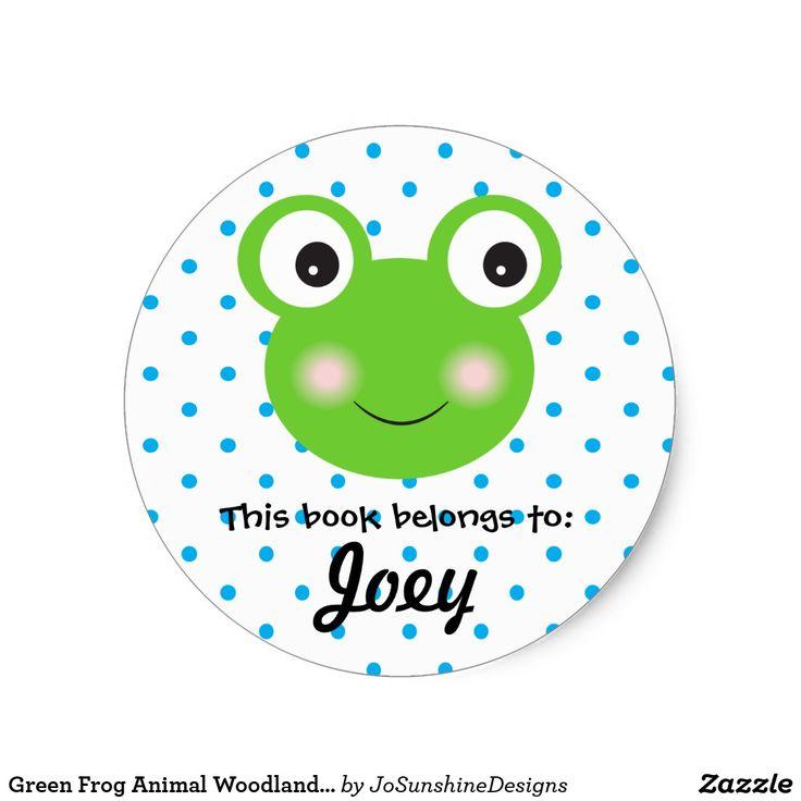 Green Frog Animal Woodland Face Blue Book Boy