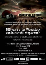 concert for the CD Launch of Rockville 2069: A Rock Musical will be held on Saturday, 18 August, 2012, at Kelvin Grove, Newlands, Cape Town. The doors open at 8pm and the show starts at 8.30pm. http://www.bizcommunity.com/Article/196/429/78622.html