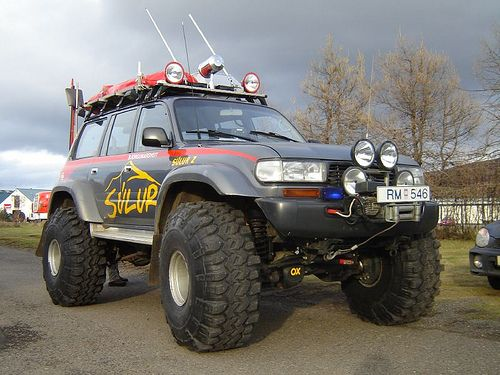 "1980 Toyota land cruiser on 47"" tires in Iceland 