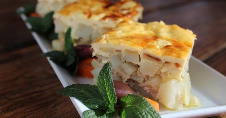 Musaka con carne picada y patatas
