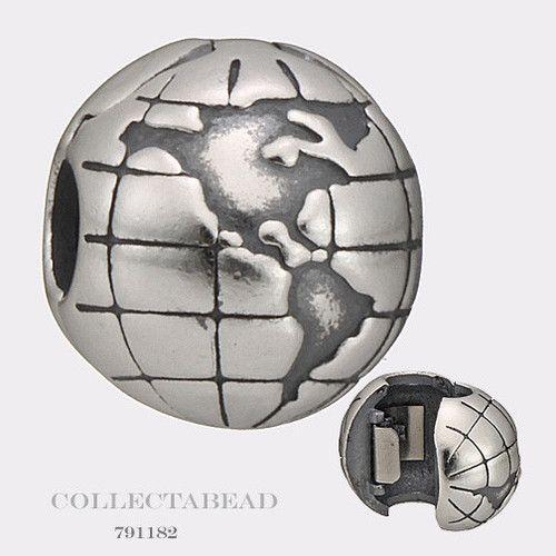 Authentic Pandora Sterling Silver Globe Clip