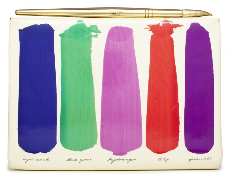 An art-inspired clutch from the Kate Spade fall 2012 look book.