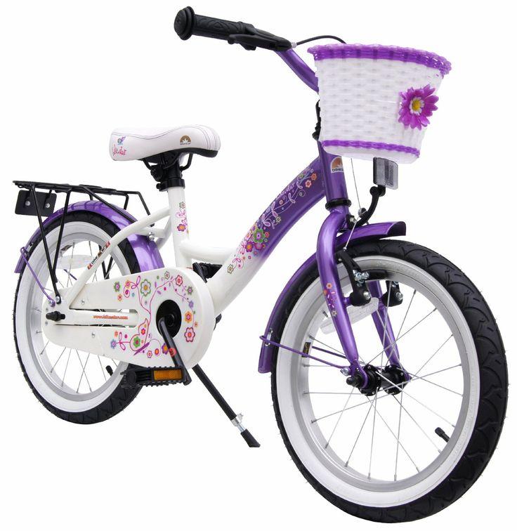 bike*star 40.6cm (16 pouces) Vélo pour enfants Classic - Couleur Lilas & Blanc: Amazon.fr: Sports et Loisirs