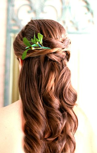 """Forest Leaves"" Rustic bridal outdoor cabin primitive wedding hair clip hairpin"