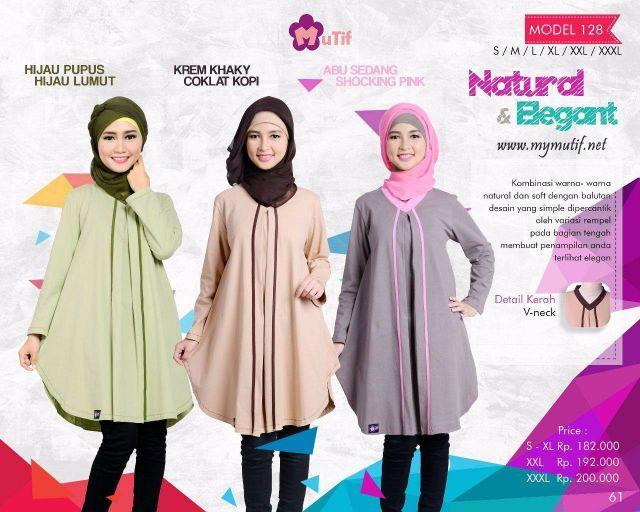 Baju atasan Muslim Mutif terbaru dengan kombinasi warna-warna natural dan soft dengan balutan desain yang simple dipercantik oleh variasi rempel pada bagian....