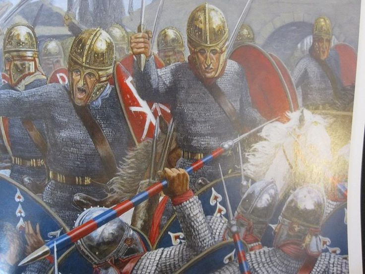 The Battle of Milvian Bridge, 312 AD.
