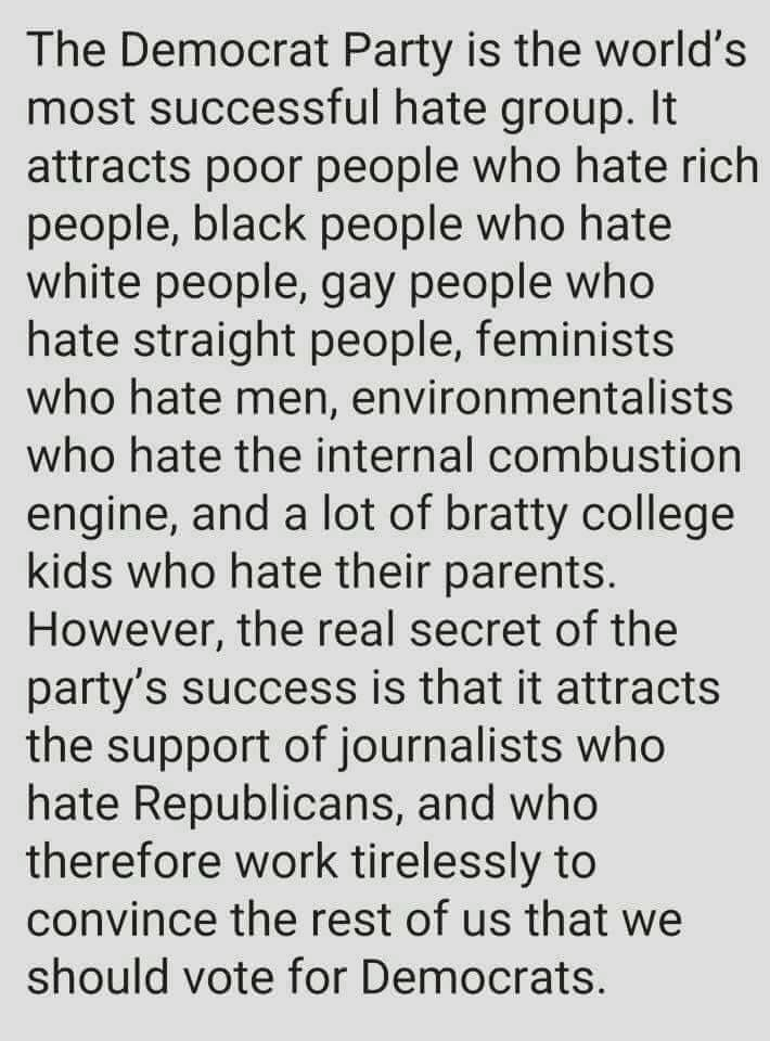 I LOVE this. For the most part, it IS true. Not to mention the Democratic party gave birth to the KKK.