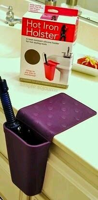 Accesorio para guardar la plancha de pelo caliente #Home #Organization #Bathroom