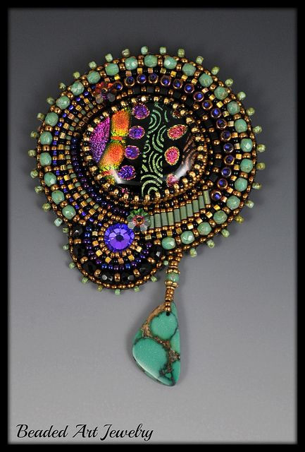 Bead Embroidered Brooch 8 019 | Flickr - Photo Sharing!