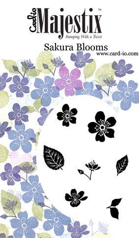 Sakura Blooms Majestix Clear Peg Stamp Set