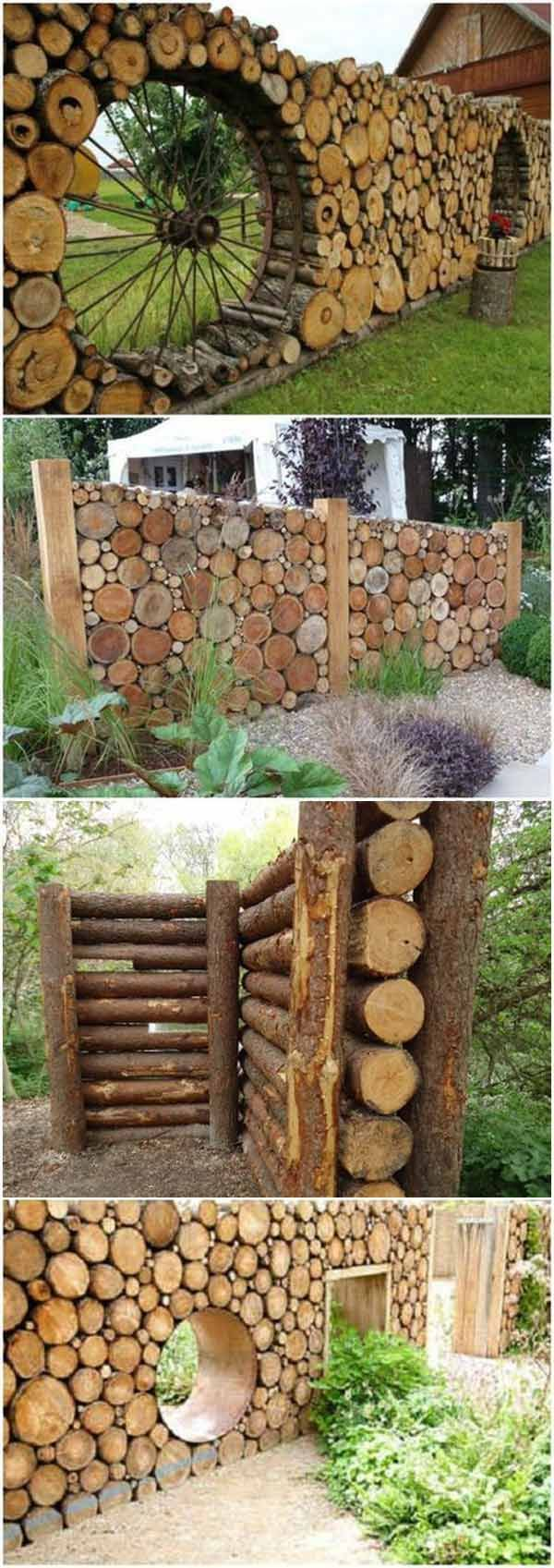 DIY Log fence