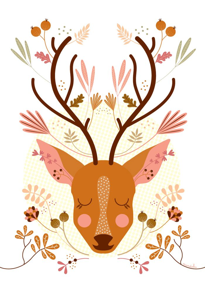 i would love to decorate ary's room around cute little artsy woodland animals like this