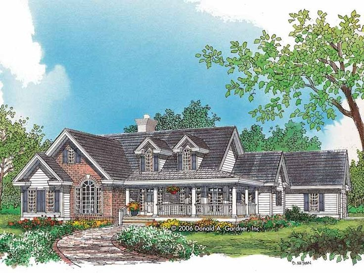 Elegant Country House Plan With 2361 Square Feet And 4 Bedrooms(s) From Dream Home