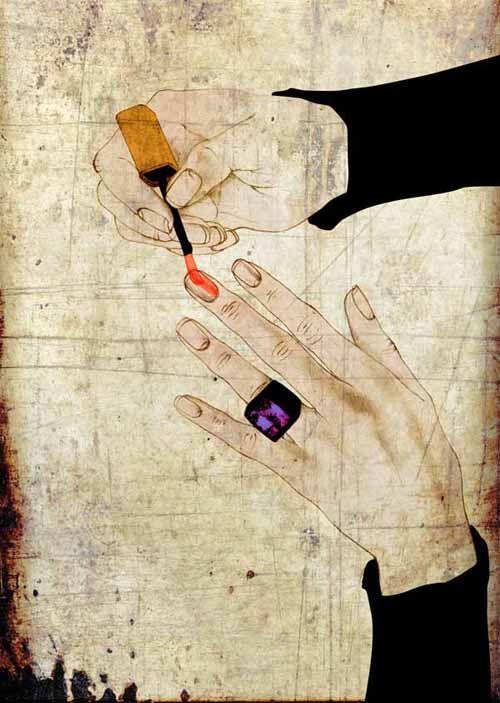 Illustration cosmétiques vernis à ongle nail art  Florence Gendre