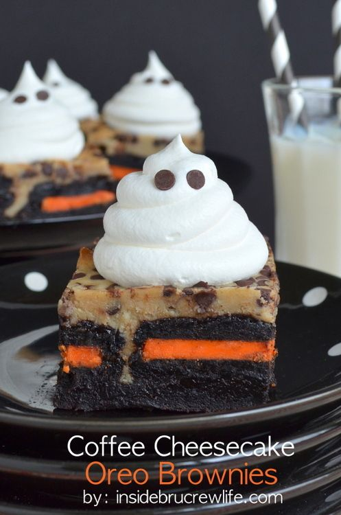 Layers of brownies, Oreo cookies, and a coffee cheesecake makes this one delicious dessert for any party!
