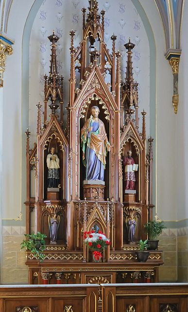 Catholic High Altar | ... Catholic Church, in Jefferson City, Missouri, USA - altar of Saint Joseph