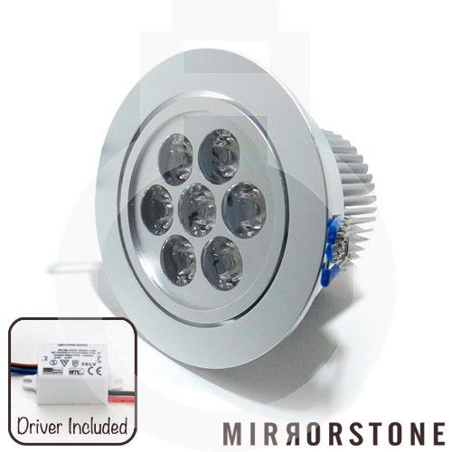 A complete, all-in-one 7W fitted LED Downlight with dye-cast aluminium finish and tilt-capability. As this is a fitted LED Downlight, you won't need to buy a separate light bulb - the LEDs are already incorporated into the unit!