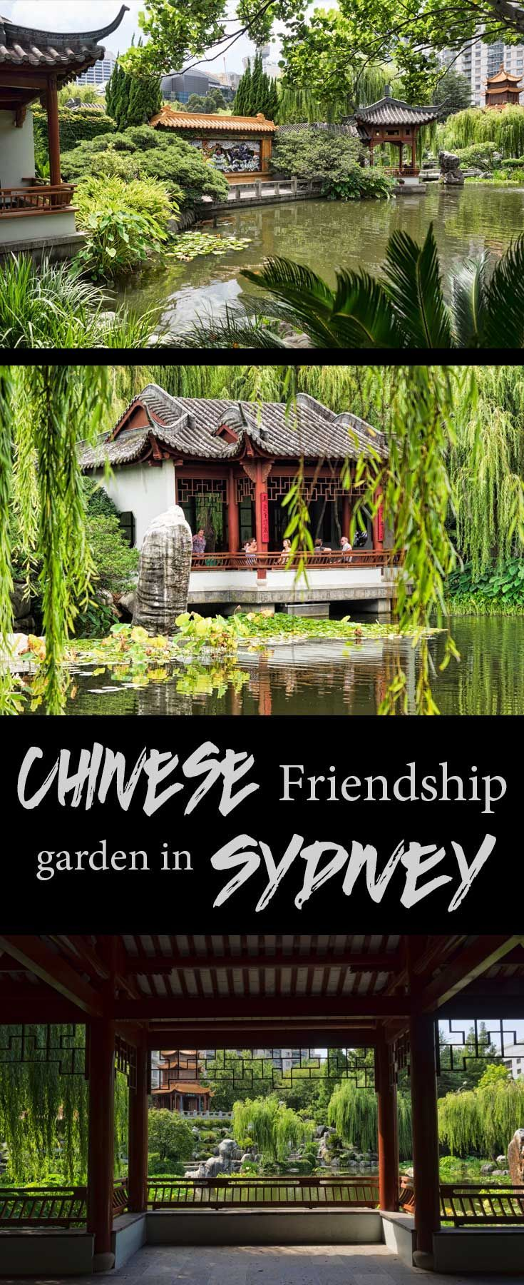The Chinese friendship gardens are an oasis of calm in the middle of Sydney city, Australia.:
