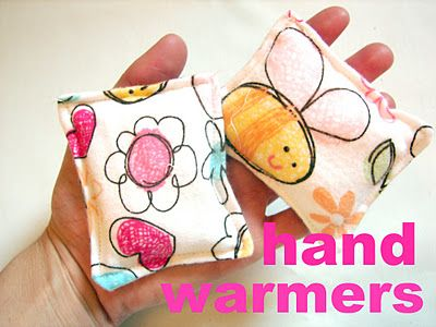 handwarmers!!!  Great for kids mittens! - A girl and a glue gun