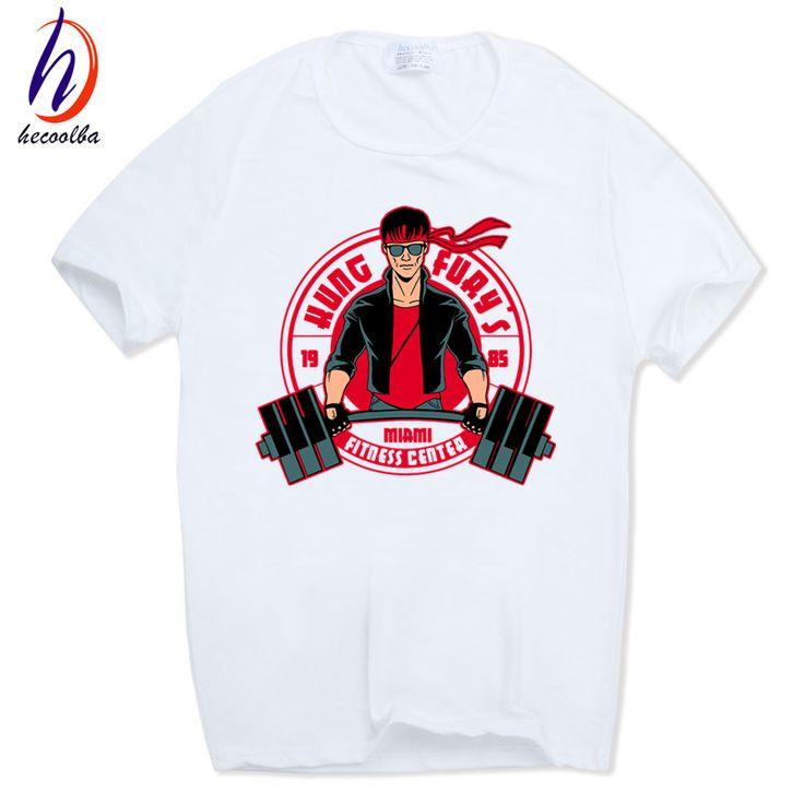 Hecoolba 2017 Men Kung Fury Retro Style Miami Movie Fashion T-shirt O-Neck Casual Streetwear Homme Male Brand Tshirt HCP537 #Affiliate