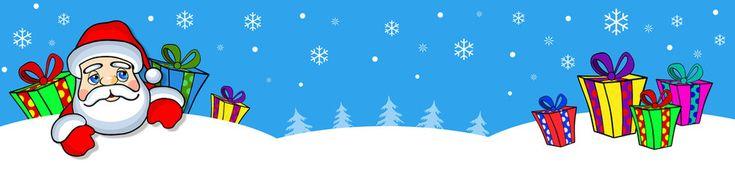 Новогодний баннер-подарки,дед мороз.