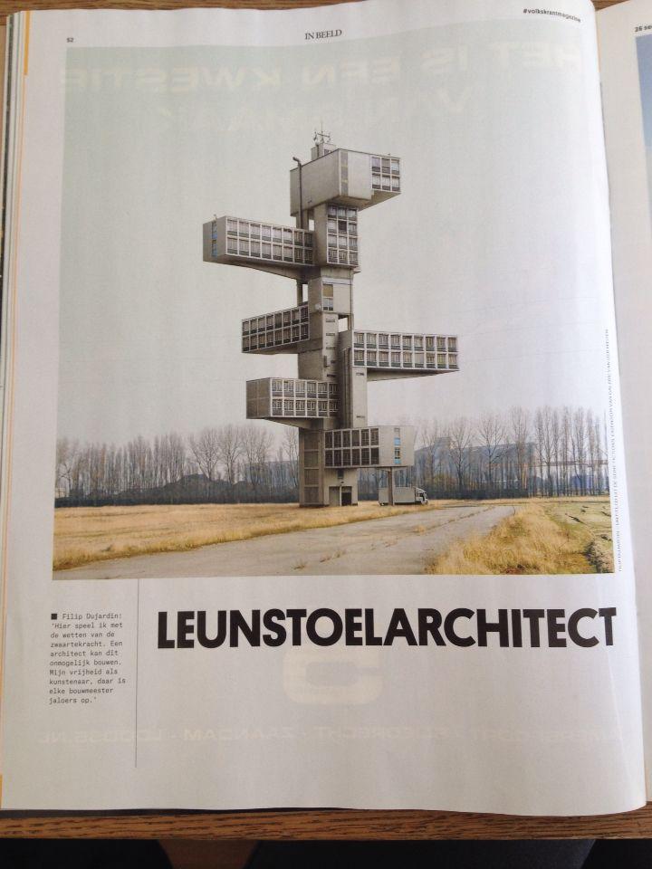 Gezien in de volkskrant, futuristisch-achtig huis