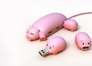 fantastic idea.: Nifty Gadgets, Cool Gadgets, Stuff, Piggies Usb, Pigs Usb, Usb Hub, Products, Games Gadgets, Fun Usb