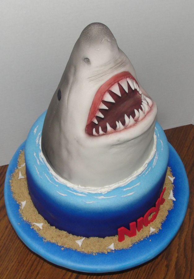 shark cakes | JAWS Birthday Cake — Children's Birthday Cakes