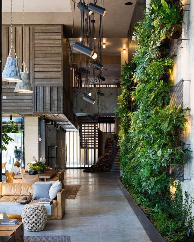 Check Out This #Brooklyn Hotel's Dramatic Living Wall Installation