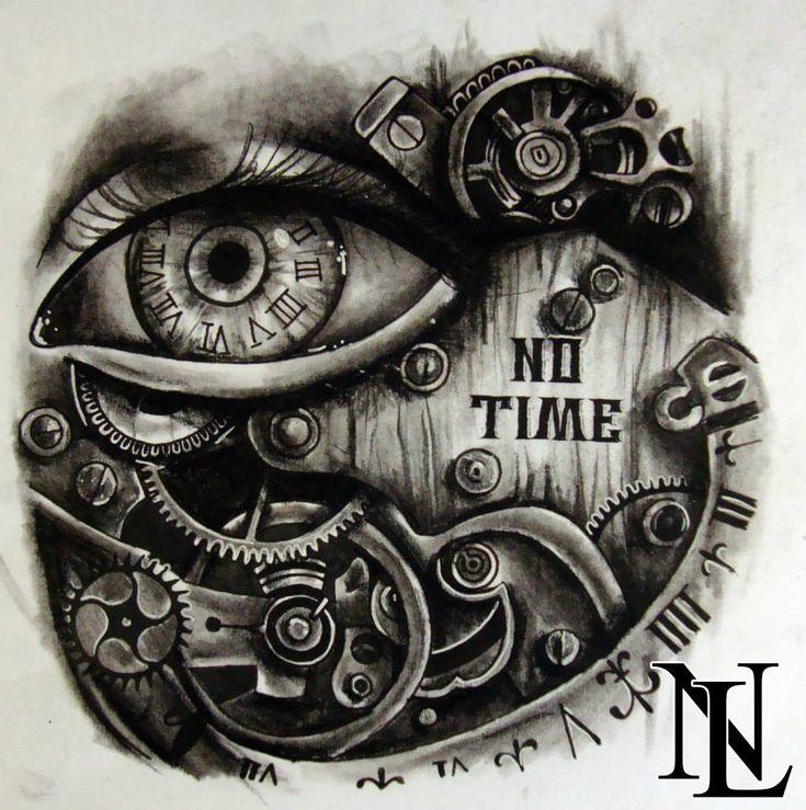#steampunk eye clock