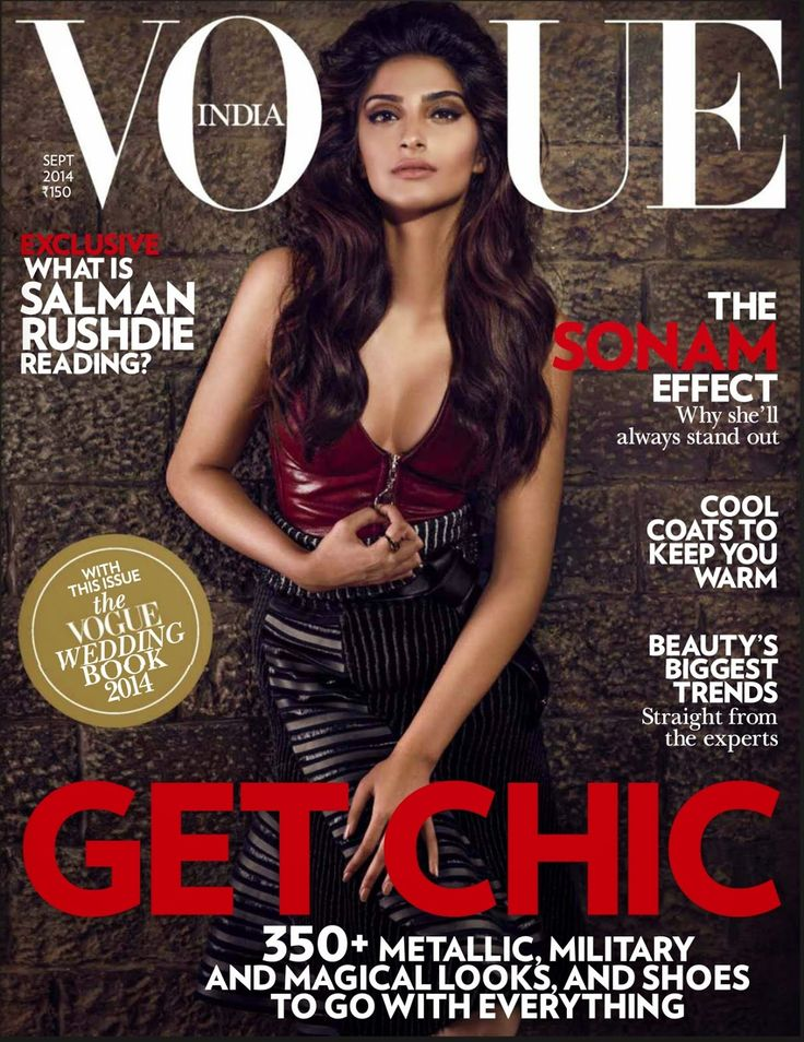 Sonam Kapoor on The Cover of Vogue Magazine - September 2014. | Bollywood, Actresses, Magazines, Movies, Pictures Gallery