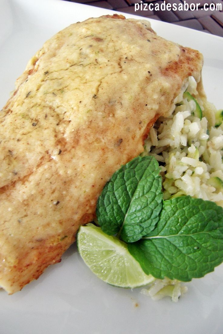 Pescado al horno con parmesano y limón - Pizca de sabor