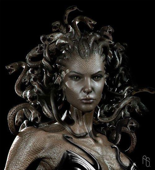 "Greek mythology Medusa ""guardian, protectress"" was a Gorgon, a chthonic monster…"