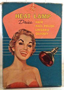 Antiquité 1950 Collection Lampe calorifique GE Boîte d'origine L
