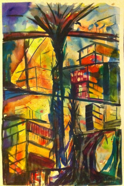 Ciudades 1 - Watercolour on paper