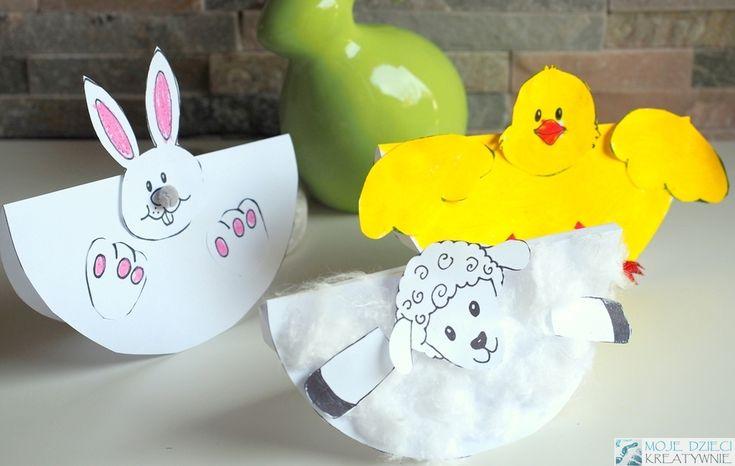 Wielkanocne prace plastyczne szablony do druku