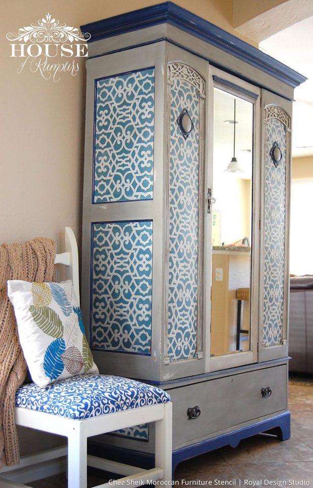 Chez Sheik Moroccan Furniture Stencils For Diy Painted Furniture Royal Design Studio