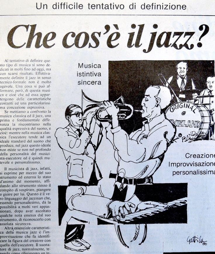 1980. L'Ordine-Quotidiano / Illustrazione Storia del Jazz • GianVincenzo Gatti
