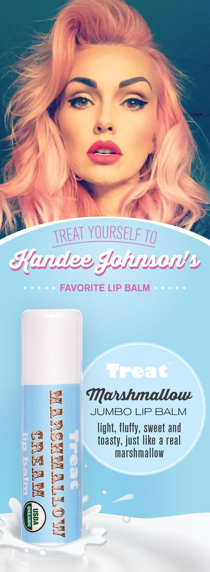 """""""This is by my bed. I have one in my purse, I have one of these stashed in every room in my house."""" KANDEE JOHNSON - Treat yourself to one today at www.treatbeauty.com."""